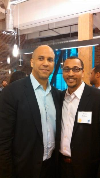 Kevin L. Nichols and Mayor Cory Booker