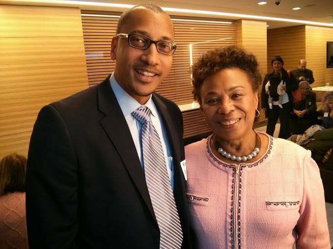 Kevin L. Nichols and Congresswoman Barbara Lee