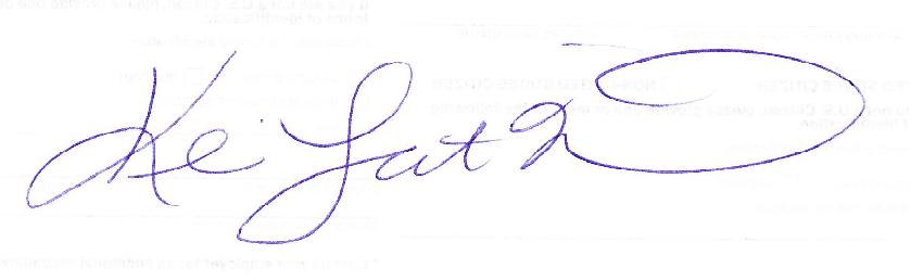 KLN Handwritten Singature
