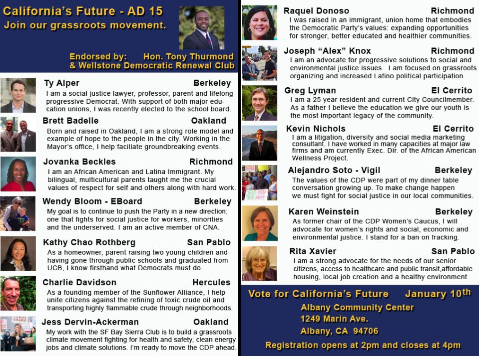 California's Future Endorsed by Tony Thurmond!