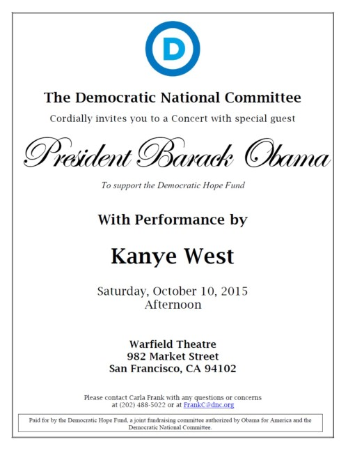 POTUS SF Concert Invitation 10-10-15 100152204