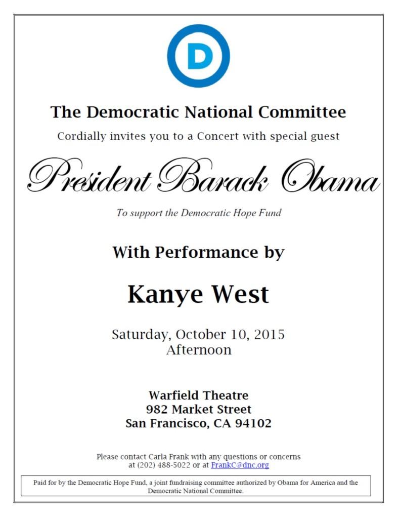 POTUS SF Concert Invitation 10-10-15 100152204